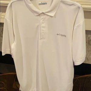 Like new white Columbia PFG polo shirt